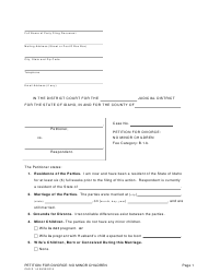 "Form CAO D1-6 ""Petition for Divorce: No Minor Children"" - Idaho"