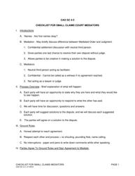 "Form CAO SC4-3 ""Checklist for Small Claims Court Mediators"" - Idaho"
