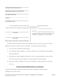 """Form CAO GCS6-9 """"Stipulation for Entry of Order, Judgment, or Decree (H&w)"""" - Idaho"""