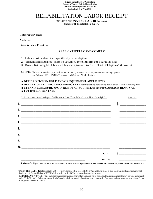 Form IL-406-1577  Printable Pdf