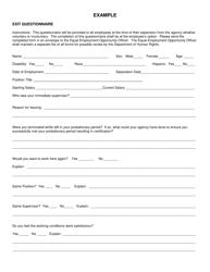 """Form DHR-30 """"Exit Questionnaire"""" - Illinois"""