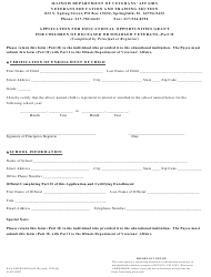 """Form IL497-0002 (DVA Form EDI) Part II """"Application for Educational Opportunities Grant for Children of Deceased or Disabled Veterans"""" - Illinois"""