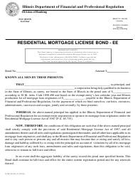 "Form IL581-0149 ""Residential Mortgage License Bond"" - Illinois"