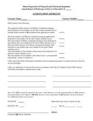 """""""Attestation Affidavit"""" - Illinois"""
