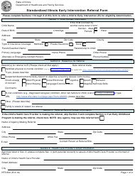 "Form HFS650 ""Standardized Illinois Early Intervention Referral Form"" - Illinois"