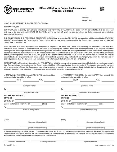Form BDE356B  Printable Pdf