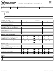 """Form BMPR QCD44 """"Check of Retaining Rings & Neoprene Pads"""" - Illinois"""