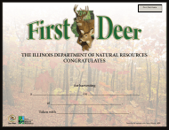 """""""My First Deer Certificate"""" - Illinois"""