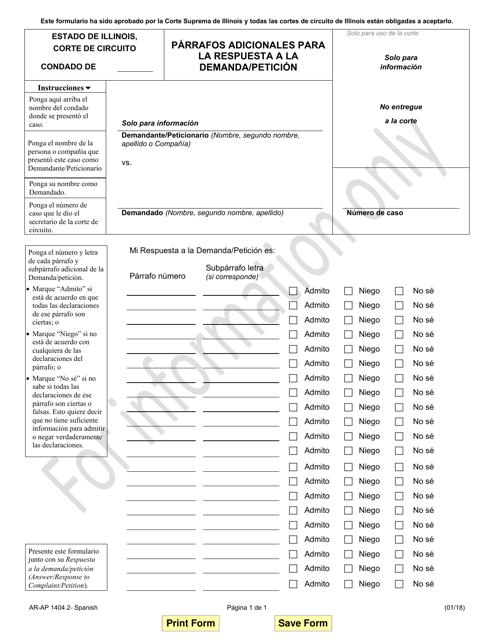 Formulario AR-AP1404.2  Printable Pdf