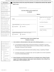"""Form EW-C3401.2 """"Certification for Exemption From E-Filing"""" - Illinois"""