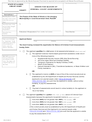 "Form WA-O604.4 ""Order for Waiver of Criminal Court Assessments"" - Illinois"