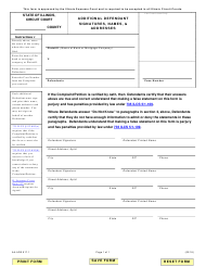 "Form AA-ADS917.1 ""Additional Defendant Signatures, Names, & Addresses"" - Illinois"