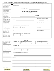"""Form MNA-O2704.2 """"Appellate Motion Order"""" - Illinois"""