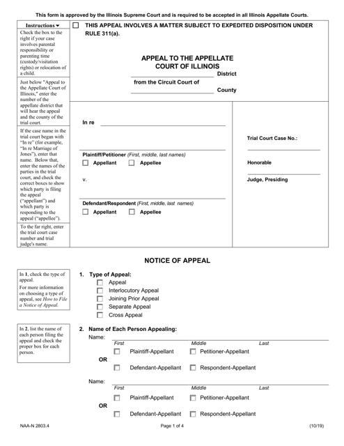 Form NAA-N2803.4  Printable Pdf