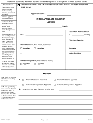 """Form MNA-M2703.2 """"Appellate Motion"""" - Illinois"""