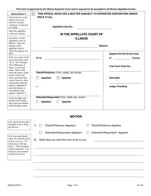 Form MNA-M2703.2  Printable Pdf