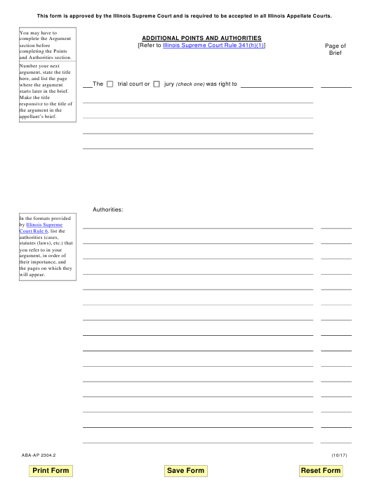 Form ABA-AP2304.2 Printable Pdf