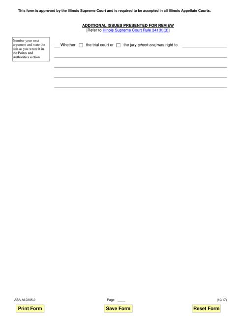 Form ABA-AI2305.2  Printable Pdf