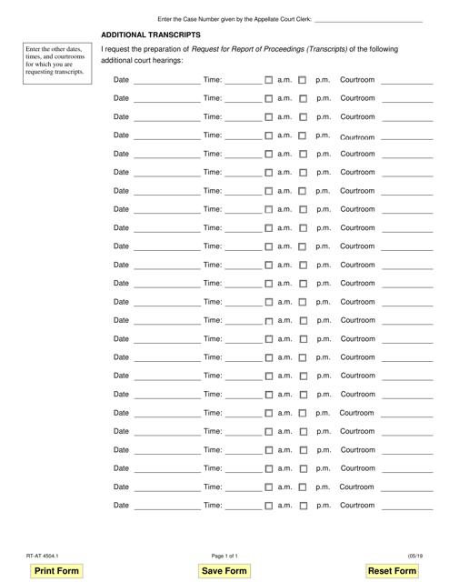 Form RT-AT4504.1  Printable Pdf