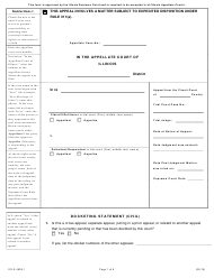 "Form DS-S4603.1 ""Docketing Statement (Civil)"" - Illinois"