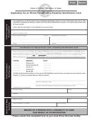 """Form DSD X164 """"Application for an Illinois Person With a Disability Identification Card"""" - Illinois"""