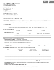 "Form BCA2.10(PSCA) ""Articles of Incorporation (Professional Service Corporation)"" - Illinois"