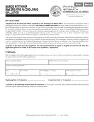 "Form DAH'(IH62 ""Illinois Petitioner Investigative Alcohol/Drug Evaluation"" - Illinois"