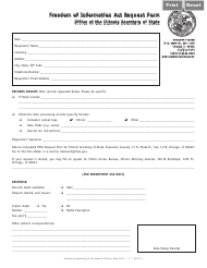 "Form EX27 ""Freedom of Information Act Request Form"" - Illinois"