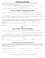 "Form ISP6-713 ""Consent to Toxicology"" - Illinois"