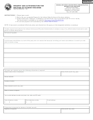 "State Form 48905 ""Request and Authorization for Release of Student Records"" - Indiana"