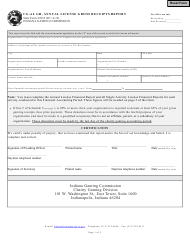 """Form CG-21 (State Form 47835) """"Annual License Gross Receipts Report"""" - Indiana"""