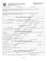 "State Form 48468 ""Paternity Affidavit Upon Marriage"" - Indiana"