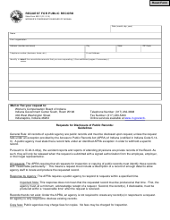 "State Form 53811 ""Request for Public Record"" - Indiana"