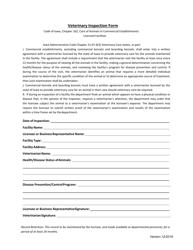 """Veterinary Inspection Form"" - Iowa"