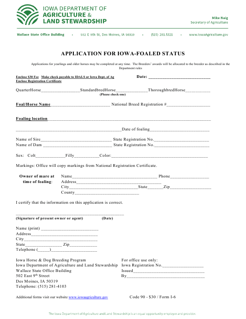 Form I-6  Printable Pdf