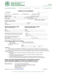 "Form M-5-1 ""Mare Status Report"" - Iowa"