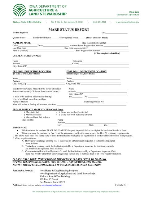 Form M-5-1  Printable Pdf
