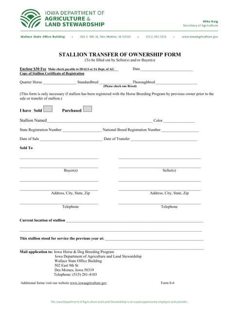 Form S-6  Printable Pdf