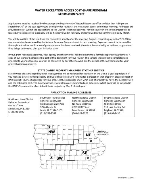DNR Form 542-0964  Printable Pdf