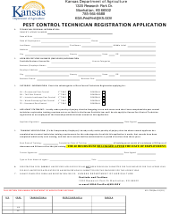 "Form KPL-700 ""Pest Control Technician Registration Application"" - Kansas"