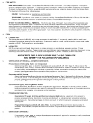 "Form CCL.801 ""Application for a School Age Drop-In Program"" - Kansas, Page 2"