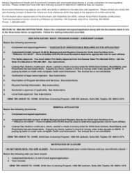 """Form CCL.301 """"Application for a Child Care Center, Preschool, Head Start"""" - Kansas, Page 4"""