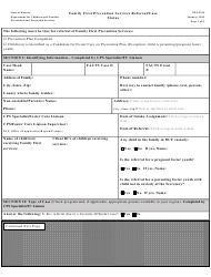 """Form PPS4310 """"Family First Prevention Services Referral/Case Status"""" - Kansas"""