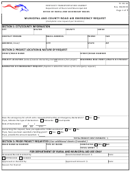 "Form TC20-16 ""Municipal and County Road Aid Emergency Request"" - Kentucky"