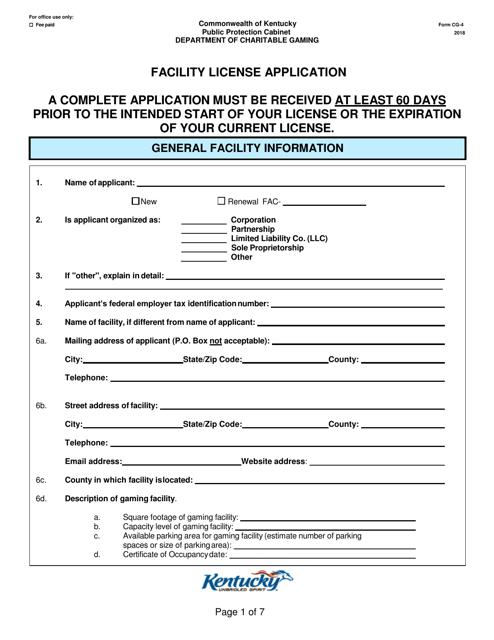Form CG-4  Printable Pdf