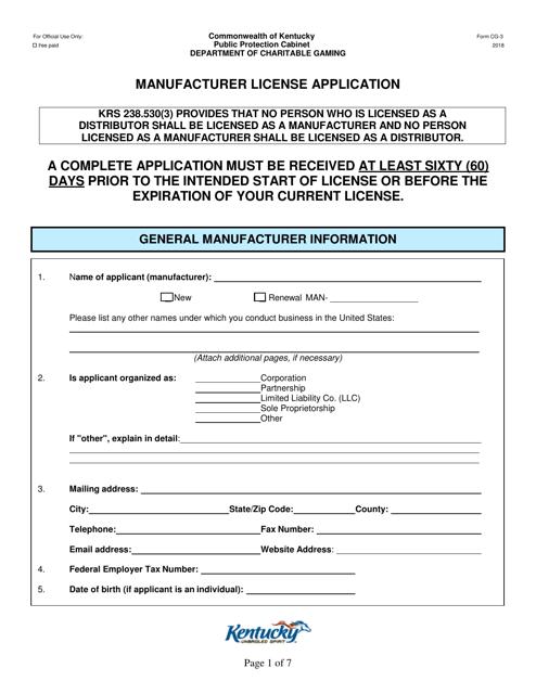 Form CG-3  Printable Pdf