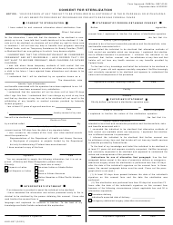 "Form HHS-687 ""Consent for Sterilization"""