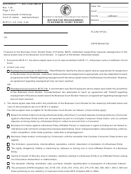 "Form AOC-BCD-2 ""Motion for Reassignment to Business Court Docket"" - Kentucky"