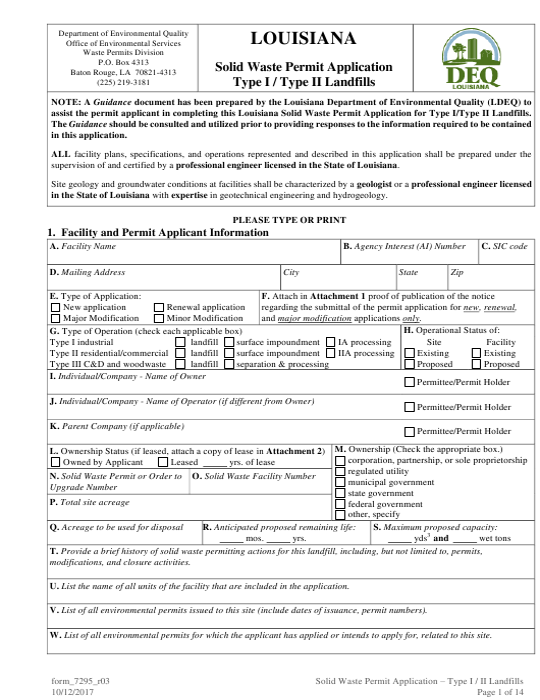 Form 7295  Printable Pdf