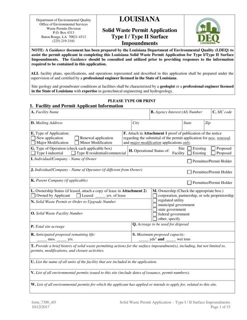 Form 7300  Printable Pdf